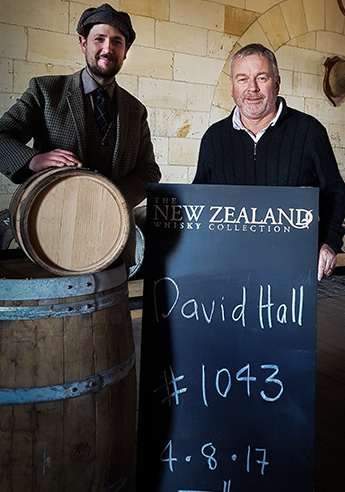 David Hall with James Mckenzie New Zealand Whisky Cask
