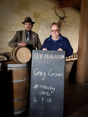 Greg Carson New Zealand Whisky private cask