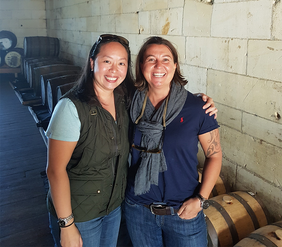 Donelle and Bev New Zealand Whisky Cask Filling